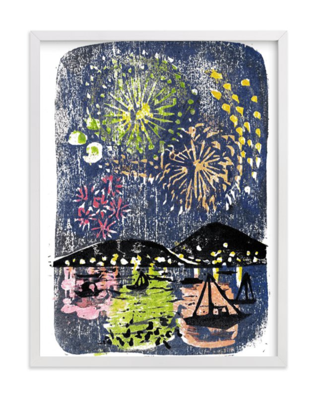"""""""Fireworks"""" - Limited Edition Art Print by Aiko Poole in beautiful frame options and a variety of sizes."""