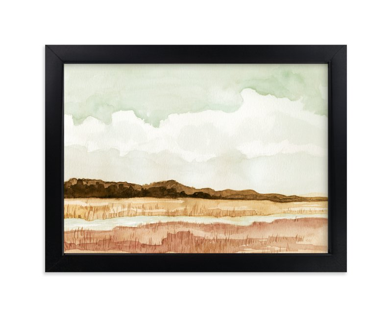 """Wetland"" - Limited Edition Art Print by Field and Sky in beautiful frame options and a variety of sizes."