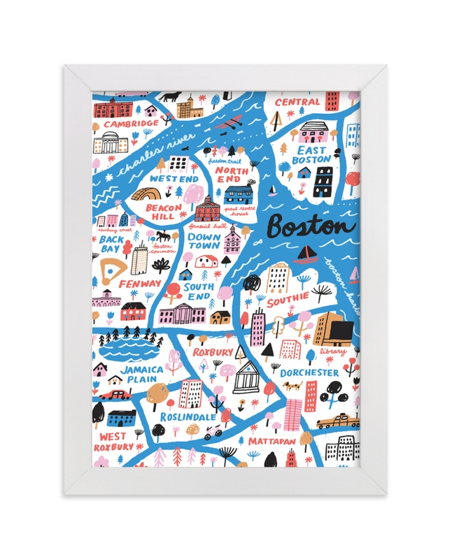 """I Love Boston"" - Limited Edition Art Print by Jordan Sondler in beautiful frame options and a variety of sizes."