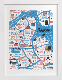 I Love Boston Art Print