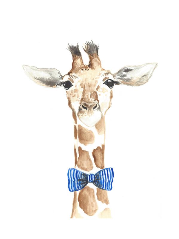 Dapper Giraffe Wall Art Prints by Kristin Dills | Minted