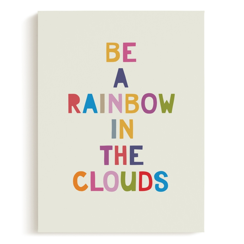 Rainbow in a Cloud Grownup Open Edition Non-Custom Art Print