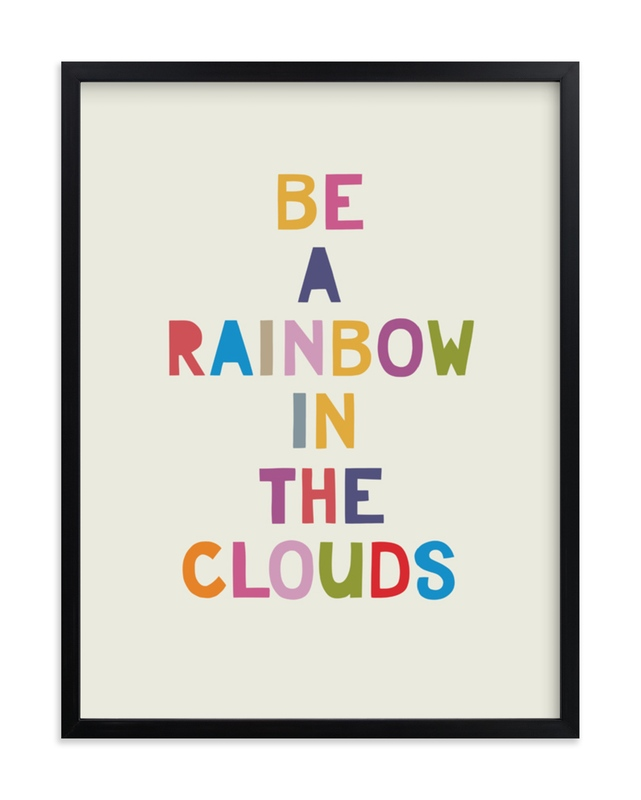"""""""Rainbow in a Cloud"""" - Grownup Open Edition Non-custom Art Print by Johanna McShan in beautiful frame options and a variety of sizes."""