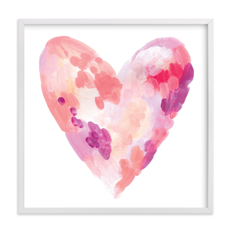 This is a purple art by Alethea and Ruth called Abstract Heart.