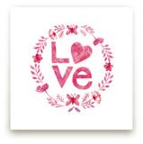 Love Wreath Pink by Corinne Haig Designs