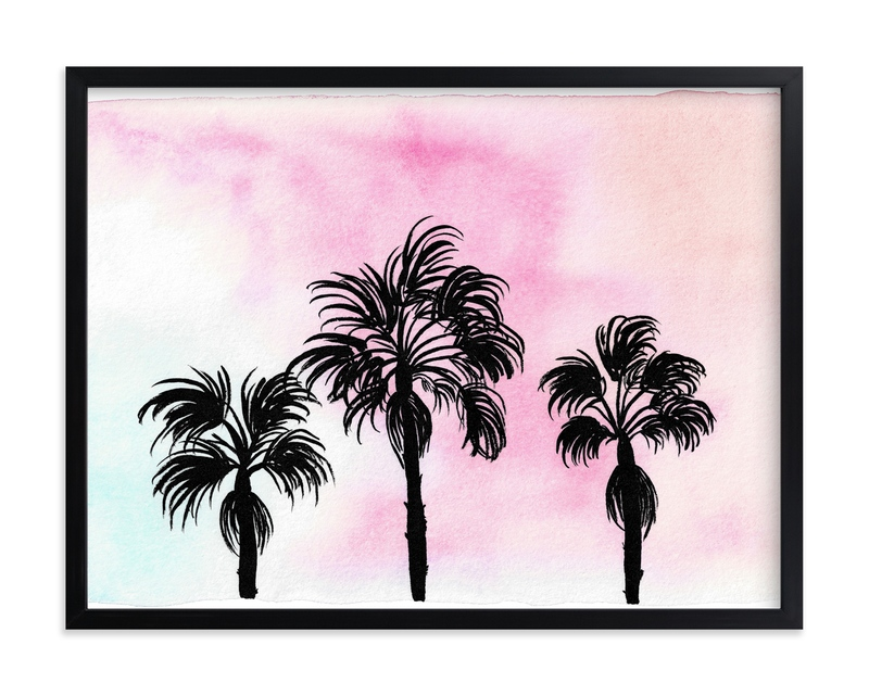 """Sunset in L.A."" - Grownup Open Edition Non-custom Art Print by Juliana Zimmermann in beautiful frame options and a variety of sizes."