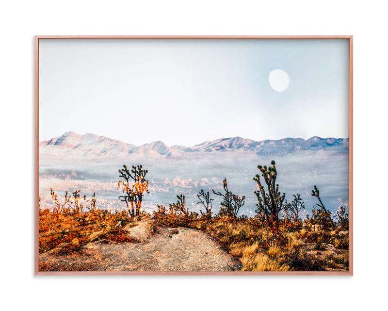 """""""Desert Super Moon"""" - Grownup Open Edition Non-custom Art Print by Kate Baird in beautiful frame options and a variety of sizes."""