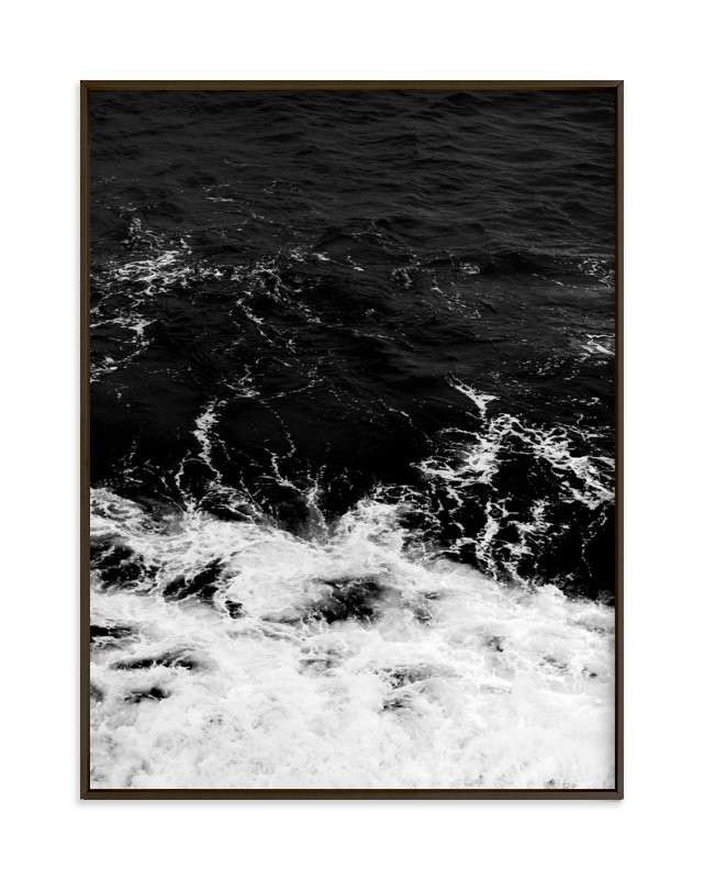 """""""Obsidian Sea"""" - Grownup Open Edition Non-custom Art Print by Kamala Nahas in beautiful frame options and a variety of sizes."""