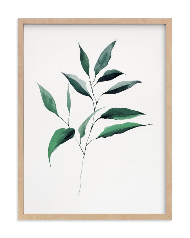 """Magnolia Foliage"" - Grownup Open Edition Non-custom Art Print by jinseikou in beautiful frame options and a variety of sizes."