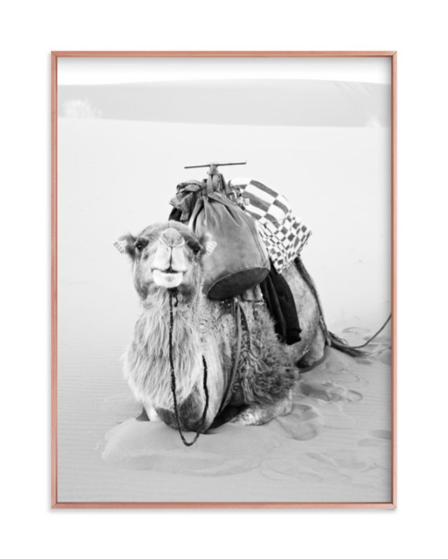 """Smiles in the Sahara"" - Grownup Open Edition Non-custom Art Print by Jamie Lollback in beautiful frame options and a variety of sizes."