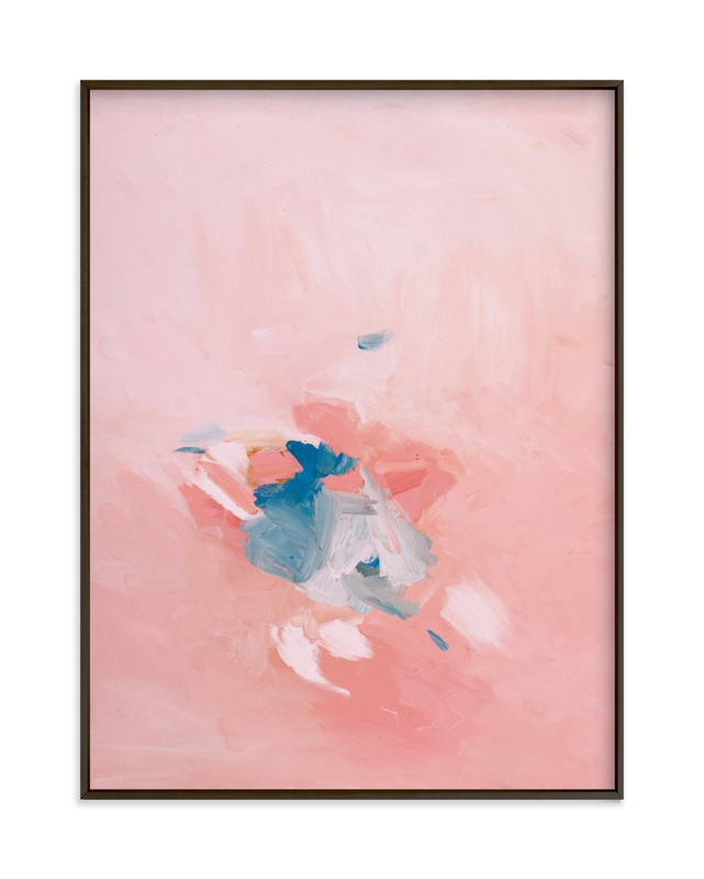 """Soft Coral"" - Grownup Open Edition Non-custom Art Print by Caryn Owen in beautiful frame options and a variety of sizes."