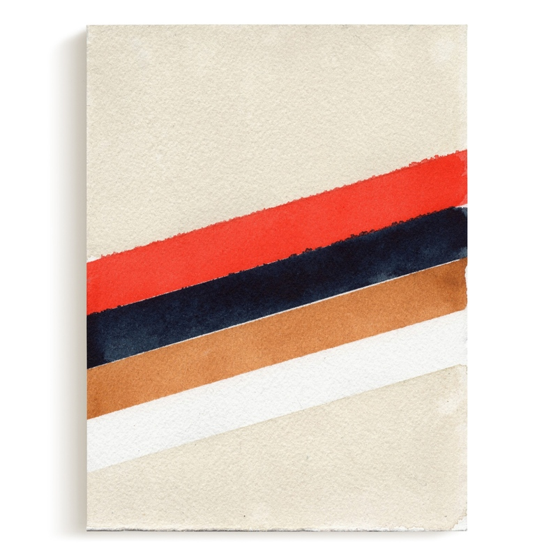 Retro Stripes Art Print