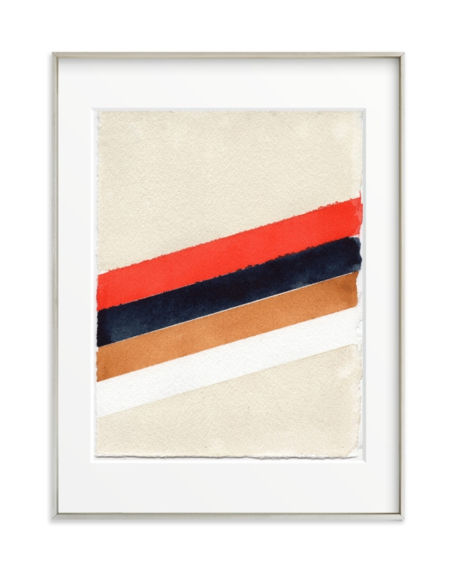 Retro Stripes Grownup Open Edition Non-Custom Art Print