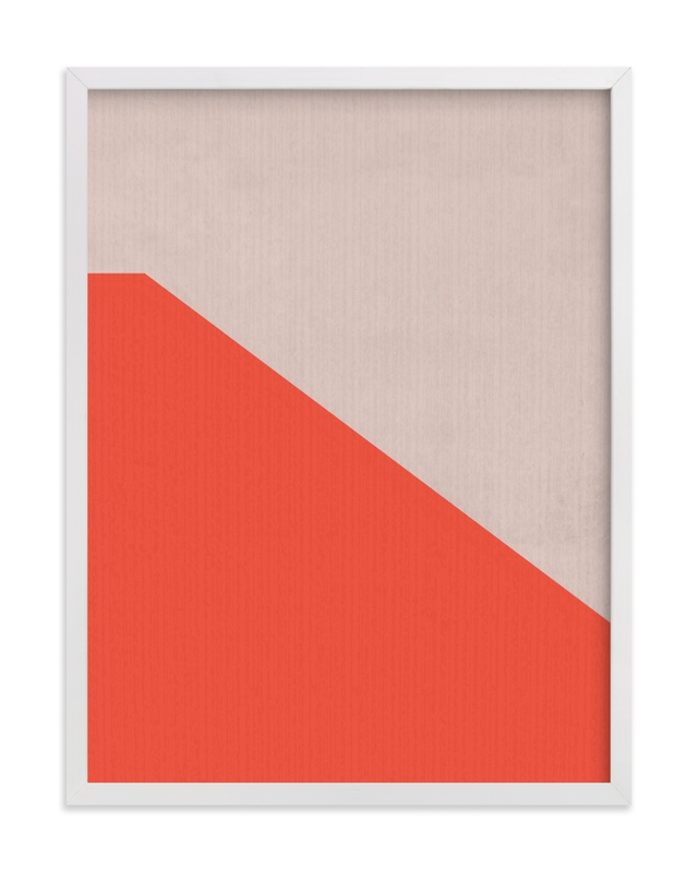 This is a beige art by MinimalType called Sunset Wall.
