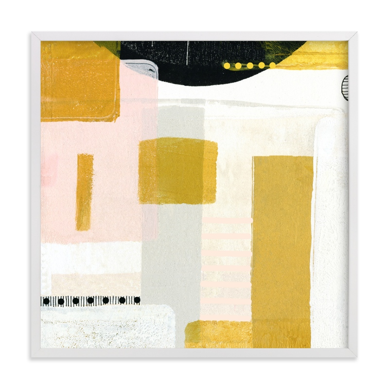 """""""Sunny and dots III"""" - Grownup Open Edition Non-custom Art Print by Jaqui Falkenheim in beautiful frame options and a variety of sizes."""