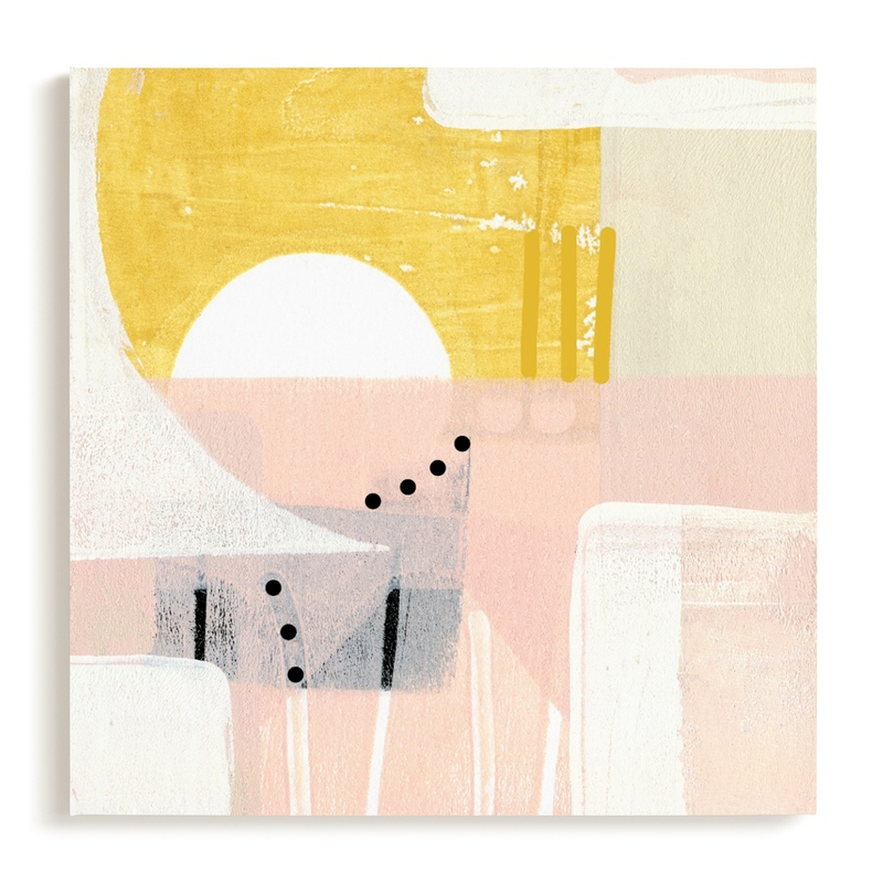 Sunny and dots I Art Print