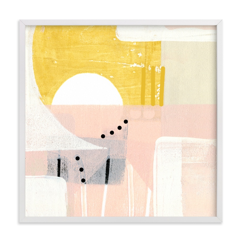 """""""Sunny and dots I"""" - Grownup Open Edition Non-custom Art Print by Jaqui Falkenheim in beautiful frame options and a variety of sizes."""