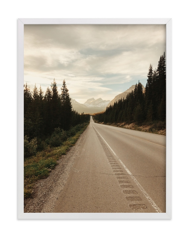 """""""Road Less Traveled"""" - Grownup Open Edition Non-custom Art Print by Alannah Kittle in beautiful frame options and a variety of sizes."""