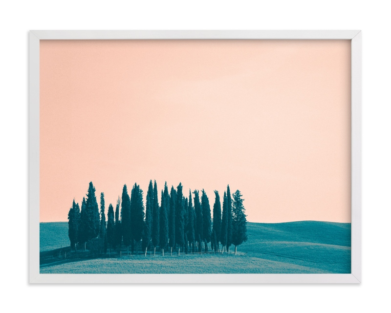 """""""Tuscan Hills 03"""" - Grownup Open Edition Non-custom Art Print by Kelsey Mucci in beautiful frame options and a variety of sizes."""