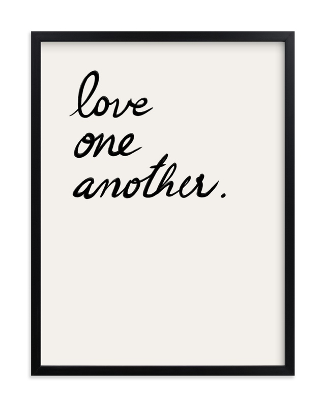 """""""Love one, Love all"""" - Grownup Open Edition Non-custom Art Print by Maja Cunningham in beautiful frame options and a variety of sizes."""