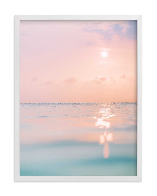 This is a blue art by Kamala Nahas called sorbet sea with standard.