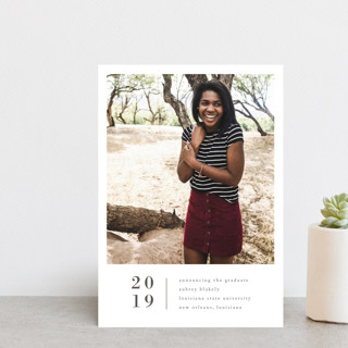 Stacked Banner Graduation Announcement Postcards