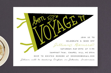 Bon Voyage Grad Graduation Announcement Postcards