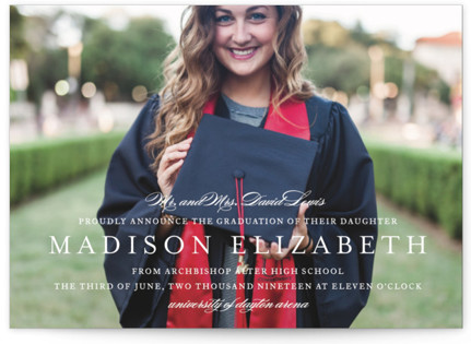 Elegance Graduation Announcement Postcards