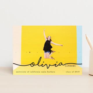 The Stylish, Mature Graduate Graduation Announcement Postcards
