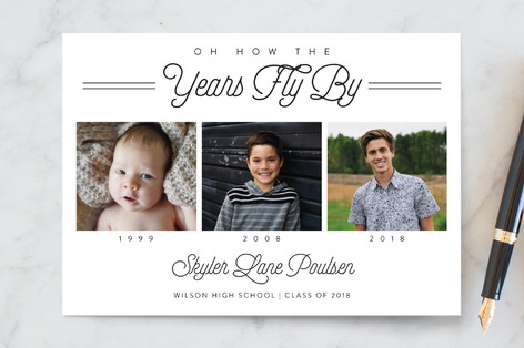 The years fly by graduation announcement postcards minted the years fly by graduation announcement postcards filmwisefo