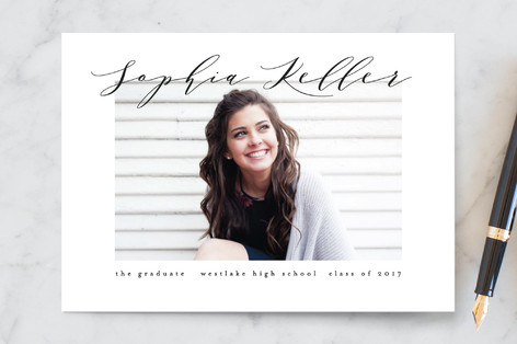 Simplicity Graduation Announcement Postcards