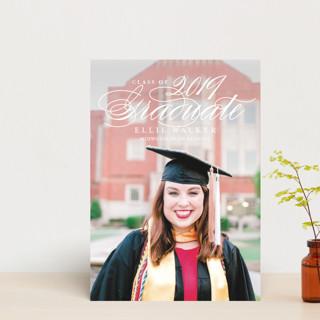 gracious grad Graduation Announcement Postcards