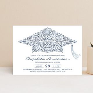 Graduation Party Cap Graduation Announcement Postcards