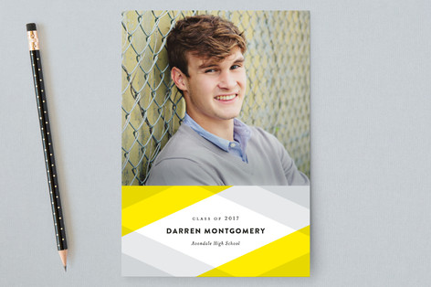 Plaid Grad Graduation Announcement Postcards