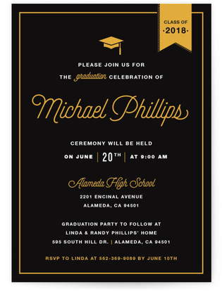 Party Graduation Graduation Announcement Postcards
