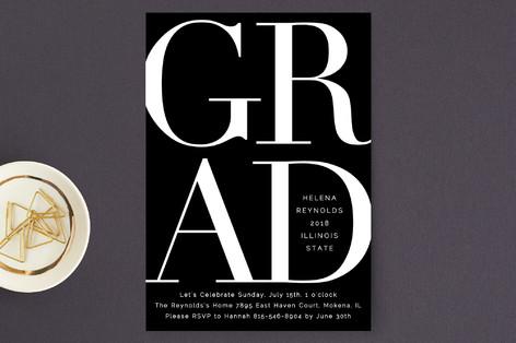 Bold Classic Grad Graduation Announcement Postcards