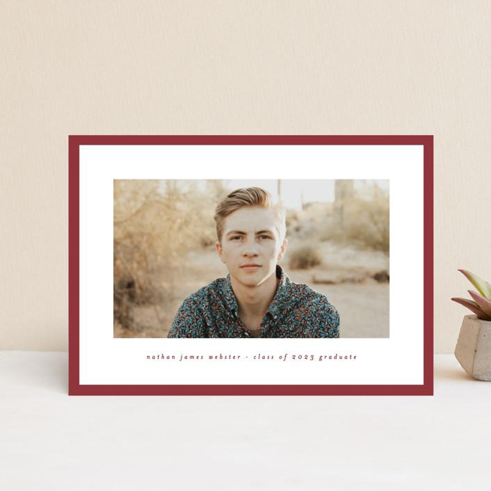 """Wrapped"" - Graduation Announcement Postcards in Brick by Lea Delaveris."