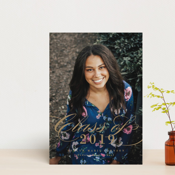 """Achievement"" - Graduation Announcement Postcards in Ivory by Michelle Taylor."