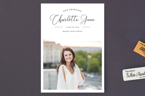 Graduation Elegance Graduation Announcement Postcards