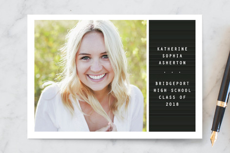 Letter board Graduation Announcement Postcards