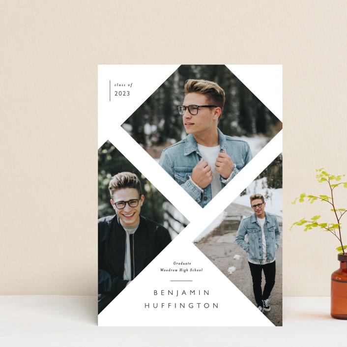 """Rising Success"" - Modern Graduation Announcement Postcards in Classic by Susanne Kasielke."