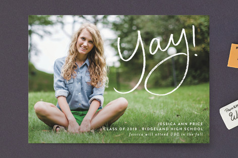 Yay for the Graduate Graduation Announcement Postcards