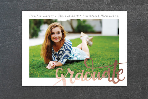Simply Graduating Graduation Announcement Postcards