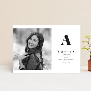 Bold monogram graduation announcement postcards minted bold monogram graduation announcement postcards filmwisefo