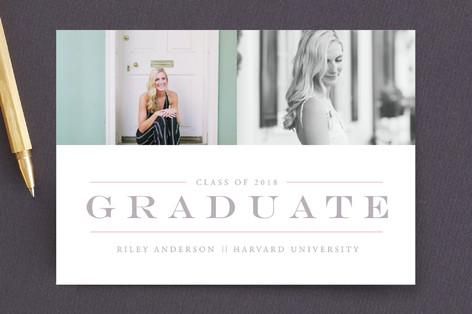 Classy & Classic Graduation Announcement Postcards