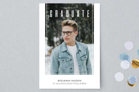 True Graduation Announcement Postcards