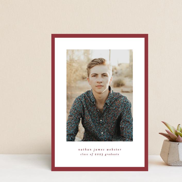 """Wrapped"" - Graduation Announcement Postcards in Bricka by Lea Delaveris."