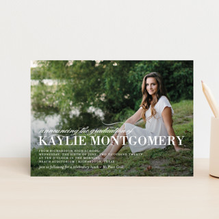 Formal Commencement Graduation Announcement Postcards