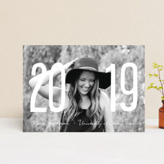 Centered Graduate Graduation Announcement Postcards