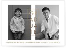 Past and Present Graduation Announcement Postcards